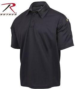 Black Tactical Performance Polo Shirt - Rothco Law Enforcement Duty Shirts