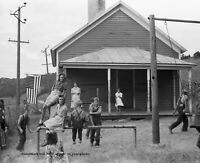 1939 Rural Wisconsin School Children PHOTO, Great Depression Farm Kids Playing