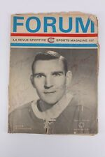 Vintage Forum Sports Magazine Signed Autographed Nhl Rangers Gilbert Giacomin +