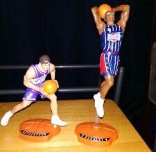 John Stockton & Charles Barkley Mattel NBA Super Stars Action Figure Lot