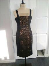 Noir et Or Kelly Brook taille de robe 12 Neuf avec Étiquettes £ 10