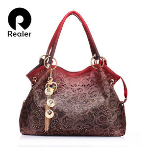 Women Bag Out Ombre Handbag Floral Print Shoulder Crossbody Ladies tote Bags