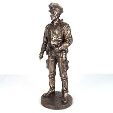 "NYPD Policeman To Protect & To Serve Bronze Figurine Miniature Statue 11.5""H New"