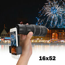 2019 Waterproof 16X52 High Definition Monocular Telescope - BAK4 Prism Quality