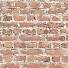 RASCH RED BRICK EFFECT WALLPAPER ROLLS (235203) NEW FEATURE WALL