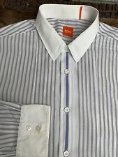 HUGO BOSS Orange Herren Hemd Gr. XL / 43 -44 grau weiß