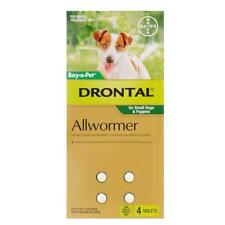 NEW PET Drontal Allwormer Tablets for Small Dogs & Puppies 4pk