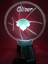 New York NY Knicks NBA Basketball Light Up Lamp LED and Remote Personalized Free