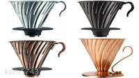 Hario V60 Metal Coffee Dripper Drip 1-4 VDM-02HSV VDM-02BC VDM-02CP VDP-02CP