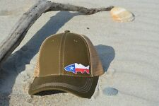 Texas Red Drum State Flag Tucker Hat