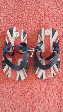 8d297aa13a3 Childrens union jack elasticated back flip flops size 7