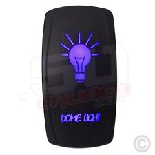 Blue On/Off 50 Cal Dome Light LED Rocker Switch 4x4 Off Road 4WD Honda Pioneer
