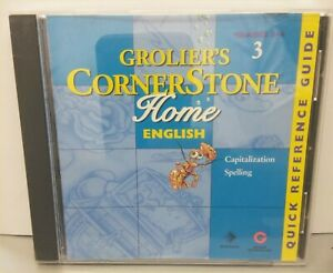 Grolier's Cornerstone Home English Capitalization Spelling Grades 3-4 CD-ROM