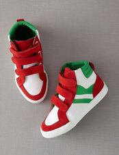 Mini Boden Leather High Top Boots White/Red/Green UK 11.5 Eur 30 EM35 27