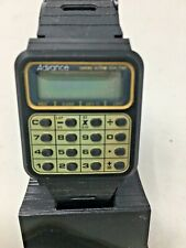 Vintage NIB Advance LCD Calculator Watch Black Band