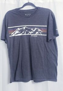 Columbia Short Sleeve Gray T-Shirt Men's size Large