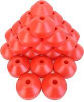 "(25) 07MRDARE 7""  Plastic Dome Adapters Adaptor 45RPM Insert Red Record Vinyl EP"