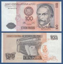 PERU 100 Intis 1987  UNC  P.133