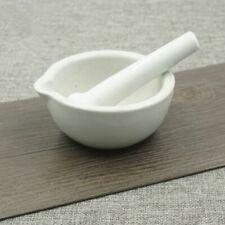 1 Set Ceramic White Mortar and Pestle Mixing Grinding Tool
