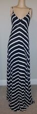 NWT $175 5/48 SAKS FIFTH AVENUE LONG DRESS BLACK & WHITE STRIPES XS