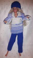 Puppenkleidung.passend für Barbiepuppe,Kleid Tasche + Käppi Handarbeit 6299