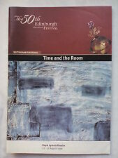 TIME AND THE ROOM.NOTTINGHAM PLAYHOUSE PROGRAMME TICKETS 30-8-1996.ANITA DOBSON