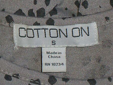 COTTON ON HighLowGreyAnimalSpotSleevelessCrop SizeS