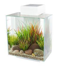 Fluval Edge 12 Gallon Aquarium with LED Light White Color