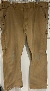 Vintage Dickies Mens Distressed Brown Carpenter Work Trousers W38 Inch /L30.5 In