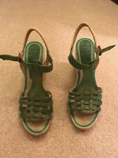Bertie Green Wedges Size 7 Good Used Condition