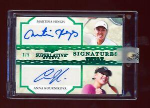 2020 Leaf Superlative Dual Auto Autograph Martina Hingis Anna Kournikova /5