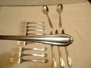 Gorham  MELON BUD Dinner Salad Fork  Stainless 15 pcs