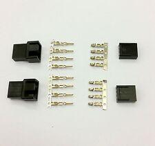 Hombre Y Mujer 4 Pin Pc Ventilador Led Conectores de alimentación - 2 de cada uno-Negro Inc Pins