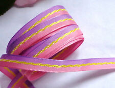 Grosgrain Ribbon trim LAVENDER / PINK  3/8 inches wide price for 3 yards