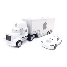 Disney Pixar Cars Mack White Apple Lightning McQueen Truck Toy Car Set Boys Gift