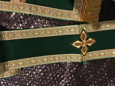 Deacon Priest Minister Stole Vestment - Green Velvet with Gold Trim