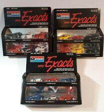 Monogram Mini Exacts 3 Gift Packs 1:87 18 Die cast Cars Ferrari Corvette Jag BMW