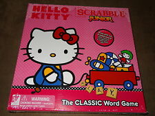 Hello Kitty Scrabble Junior Game-Grow With Me 2-Sided Board-New In Package