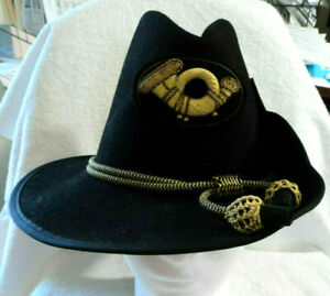 Civil War Era Type Union Infantry Officer's Wool Hat w Braided Badges Band 7 1/2