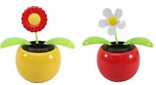 Dancing flowers ~1 Daisy 1 Sunflower Solar Toy US Seller Home Decor Holiday Gift
