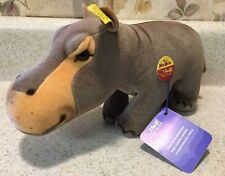 Steiff hippopotamus  hippo  W/ button & Tags made in Germany Mockie Excellent