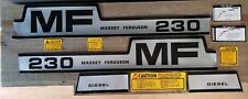 Massey Ferguson 230 Complete Decal Set
