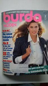 Burda Mode, Schnittmuster Zeitschrift, Februar 1988, Sixties, Kommunion