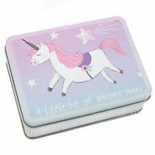 Small Metal Unicorn Magic Tin Children Treasure Secret Storage Box