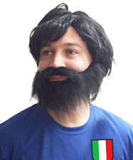 Andrea Pirlo Italy Football Fancy Dress Wig & Beard perfect for Stag Party