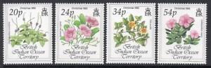 B.I.O.T. MNH 1993 SG141-44 Christmas Flowers