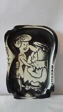 The Flintstones 1961 Barney and Betty Dancing Ceramic Ashtray #J210.