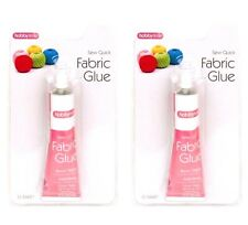 4 x Fabric Glue 50ml Tube Strong Adhesive Leather Textile Cotton Hemming Repairs