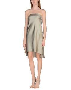 NEW Brunello Cucinelli silk satin strapless slip inspired dress