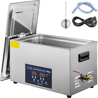 VEVOR 30L Ultrasonic Cleaner Cleaning Equipment Industry Heated W/ Timer Heater